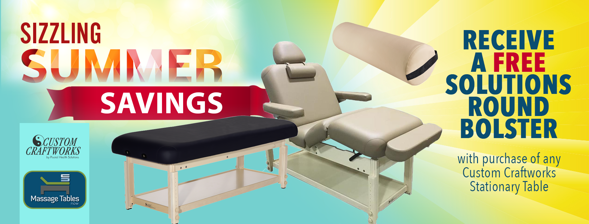 Dog Days of Summer Massage Tables Sale Image