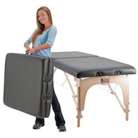 portable table with carrying case